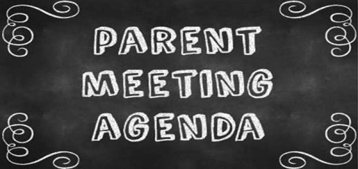 Parent Meeting Agenda